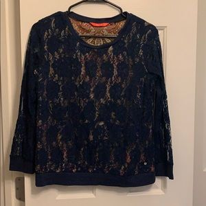 Long sleeve sheer blouse with paisley lining